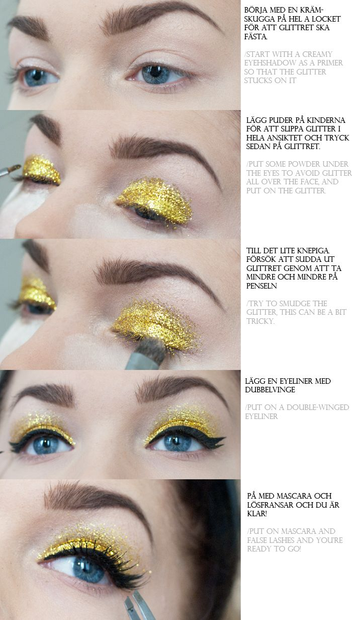 How to apply glitter as eyeshadow. Could be useful for ...