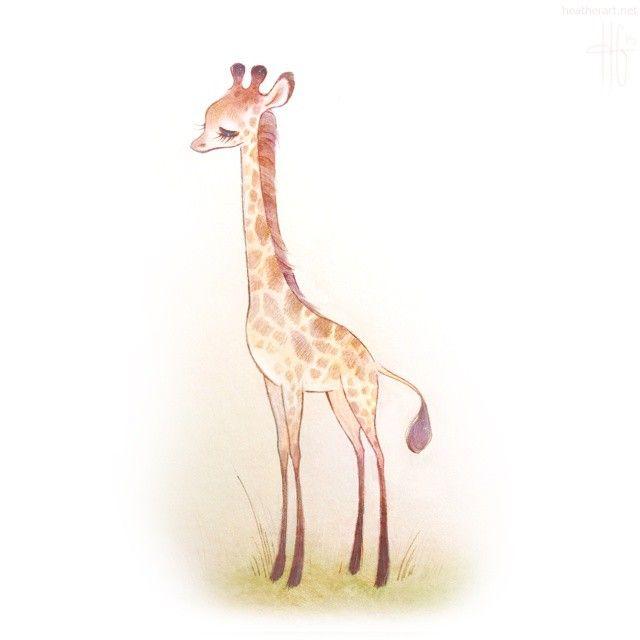 Baby Giraffe Illustration