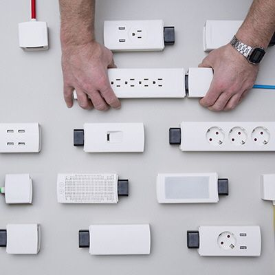 "Power strips are outdated, not terribly different from the power strips of 20 years ago, despite the explosion in the popularity of electronic devices. Thus a trio of Munich-based designers calling themselves Good Gadgetshave designed Youmo, a ""smart modular power strip"" that meets modern-day demands by allowing the end user to configure the strip at will"