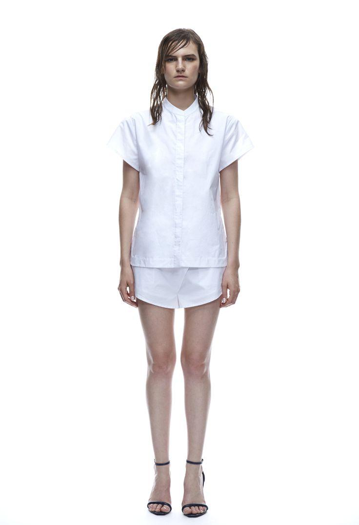 THIRD FORM SPRING 15 | CONCEALED SHIRT  #thirdform #fashion #streetstyle #style #minimalism #trend #model #blackandwhite