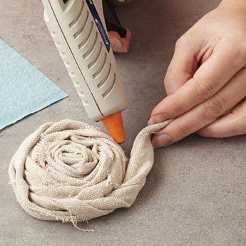 creative ideas with drop cloth | Drop Cloth Flower Necklace