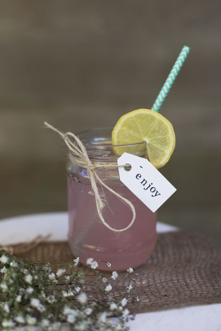 Everything tastes better in a mason jar! Especially our pink lemonade!