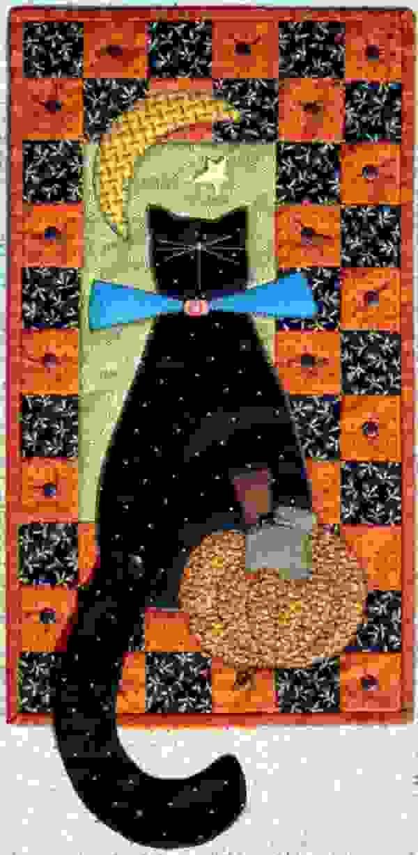 halloween kitty quilt!