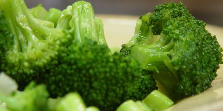 Garlic Steamed Broccoli: One head broccoli, olive oil, 1-2 garlic cloves, water, salt & pepper