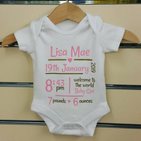 Baby Bodysuit Boy or Girl Personalised Pregnancy Announcement Baby Vest Gift