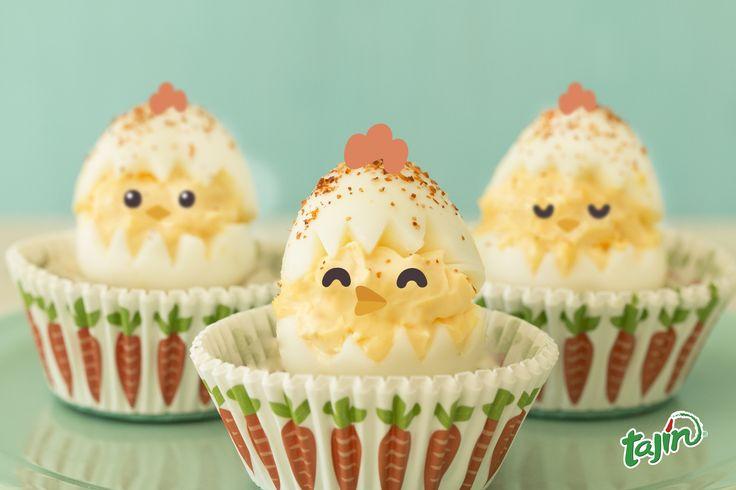 Easter birds made out of egg, sprinkle a little Tajín