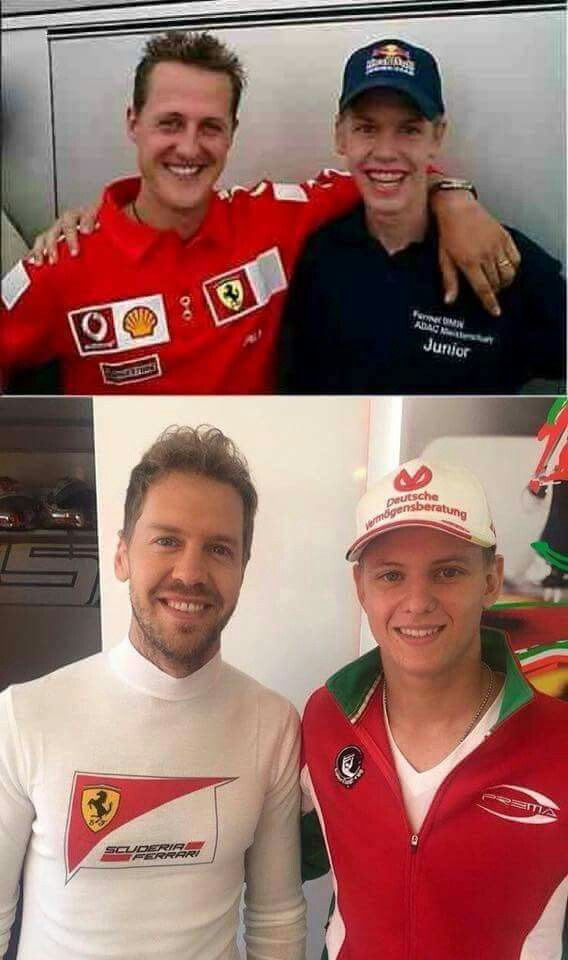 Schumacher and Vettel - 10 years later