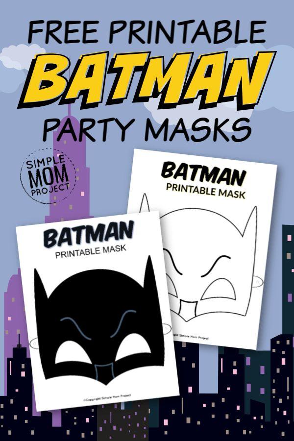 Free Printable Batman Mask Templates   Mask for kids, Face ...