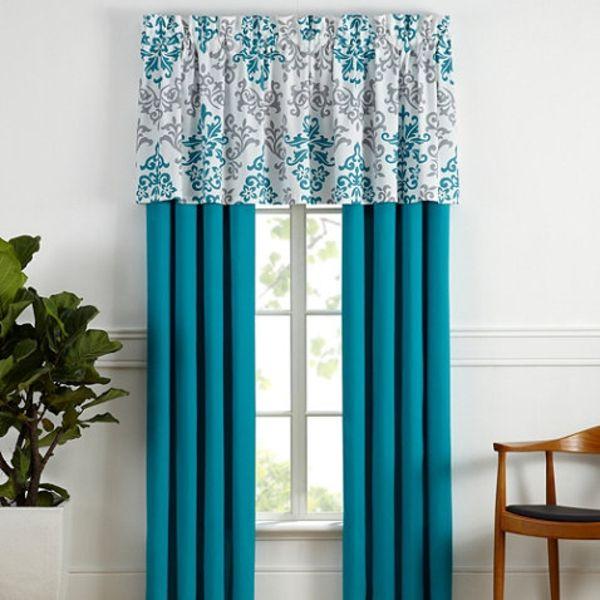 gardinen und vorh nge vorhangstoffe t rkis musterstoff. Black Bedroom Furniture Sets. Home Design Ideas