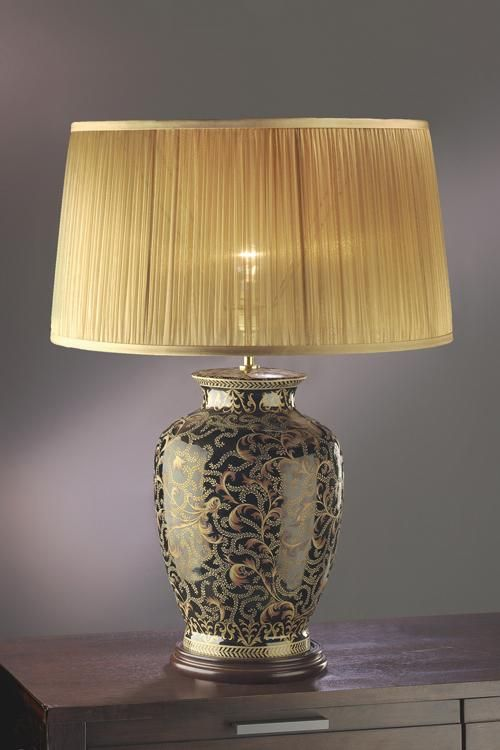 Morris large table lamp with shade luis collection elstead lighting