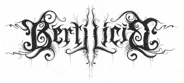 Bertilicia by Christophe Szpajdel. Bertilicia by Christophe Szpajdel (https://www.facebook.com/christophe.szpajdel).. ♥ :3  Simplesmente o Lord of The Logos fez pra mim!!! Lindo! Lindo! Lindo! #Bertilicia #Christophe Szpajdel #Logo #Logos #LordOfTheLogos