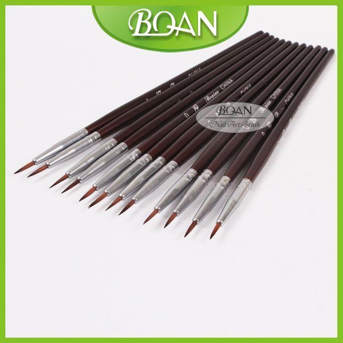 BQAN Professional Drawing Pen Nail Liner Nail Art Brush Set 000# 12pcs/set