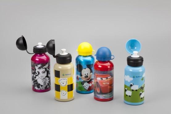 Divertidas Botellas para niños 350 ml. (licencia Disney)
