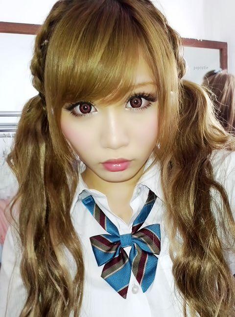 She makes school uniforms look cute!