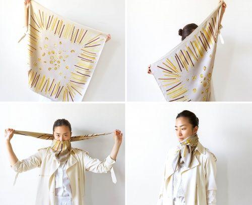 4 formas originales de amarrarte una mascada   ActitudFEM