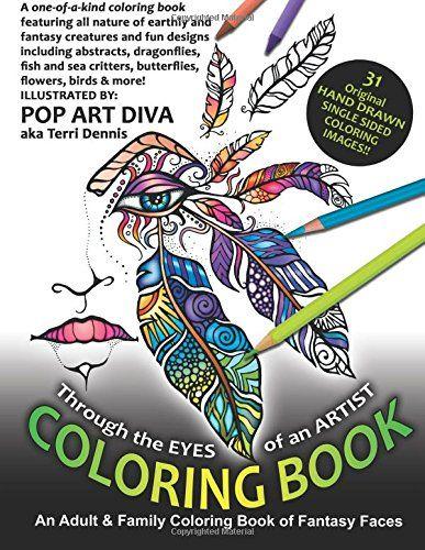 Through The EYES Of An ARTIST Fantasy Art Coloring Book