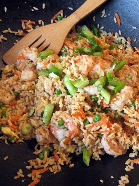 Shrimp Fried Rice - A Hint of Honey