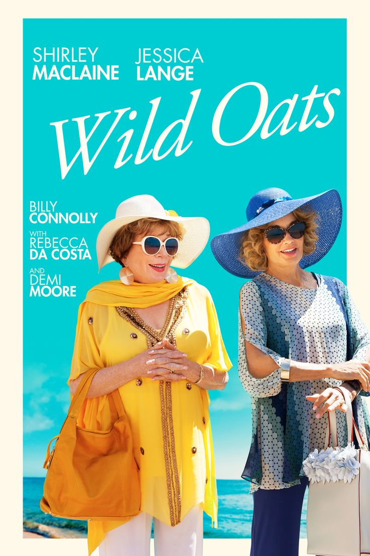 Wild Oats Movie Poster - Shirley MacLaine, Jessica Lange, Howard Hesseman  #WildOats, #ShirleyMacLaine, #JessicaLange, #HowardHesseman, #AndyTennant, #Drama, #Art, #Film, #Movie, #Poster