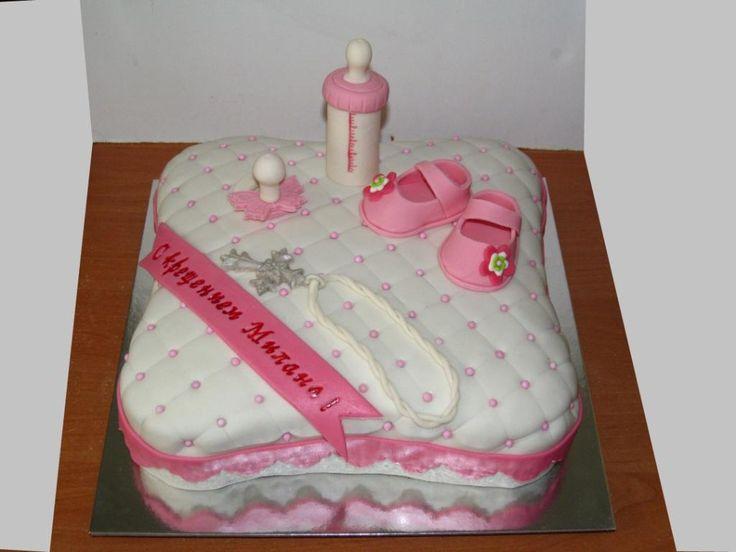 торт на крестины или на годик #торт_на_заказ_днепродзержинск #день_рождения #бисквитный_торт #комбинированный_торт