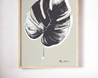 Monstera kaas Plant Leaf AFDRUKBAAR bestand. door ILKADesign