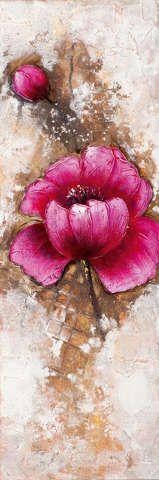 New+Life+Collection+-+Blüten+wachsen+aus+der+Wand+I+-+handgemaltes+Leinwandbild+günstig+kaufen+-+auch+auf+Rechnung!
