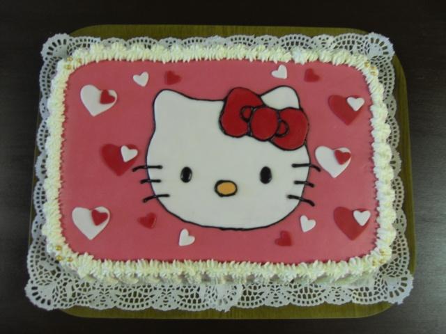 Hello Kitty cake for Natalie's 4th birthday :)