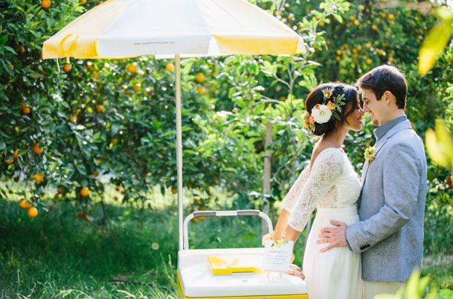 Citrus inspired summer wedding