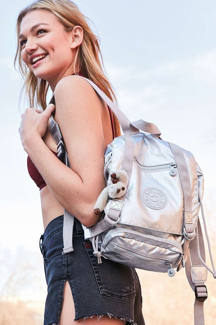 Kipling Joetsu Small Metallic Backpack - Urban Outfitters