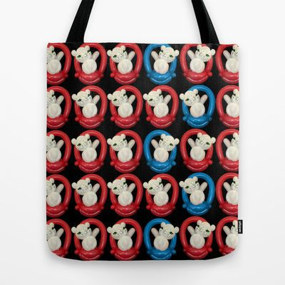 Balloon Cats in Baskets Tote Bag by Upcyclepatch - $22.00