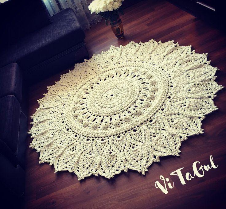 Вязаные ковры из полиэфирного шнура на заказ цена купить белые искусственные цветы