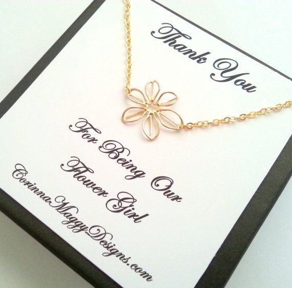 Flower Girl Gift, Silver or Gold Sunflower Necklace, bridal party gift, Wedding jewelry, children, kids, wedding favor