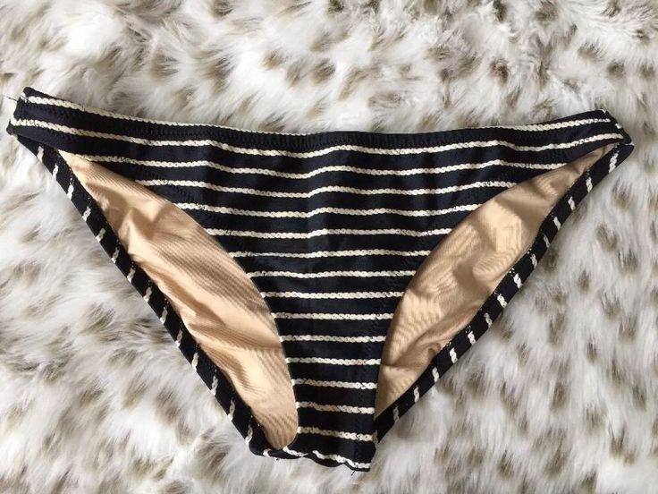 J Crew Nautical Bikini Bottoms Women's Sz M | eBay