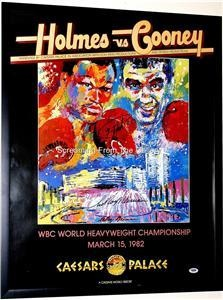 Leroy Neiman Larry Holmes Hand Signed PSA Boxing Poster