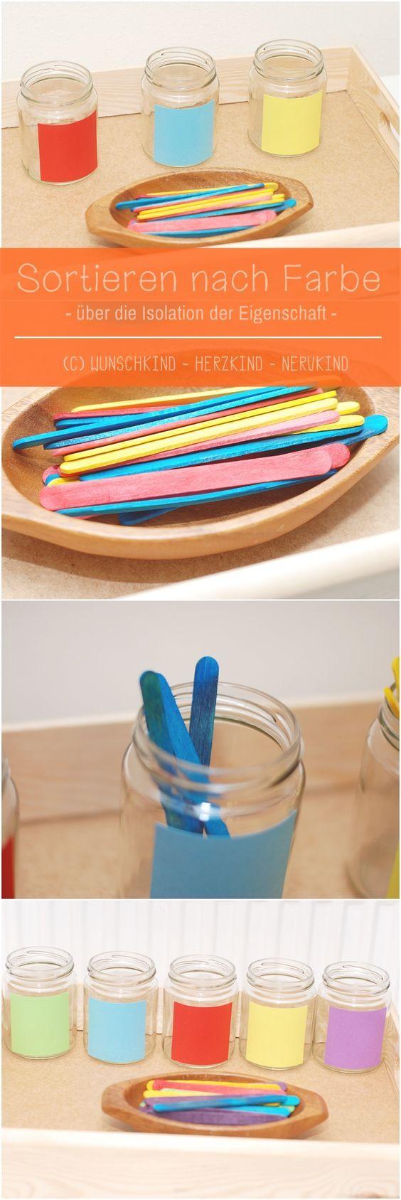 Farben sortieren. Die Lernmaterialien von Maria Mo…