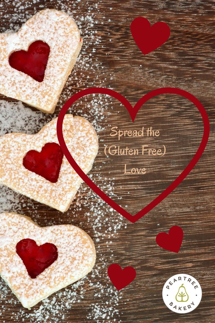 Spread the Gluten free LOVE! Head over to our Bakin' Bits Blog to find out ways to make your allergen free Valentine that Valentine's Day can be awesome! Peartree Bakery, Thunder Bay, Ontario // Food Blog