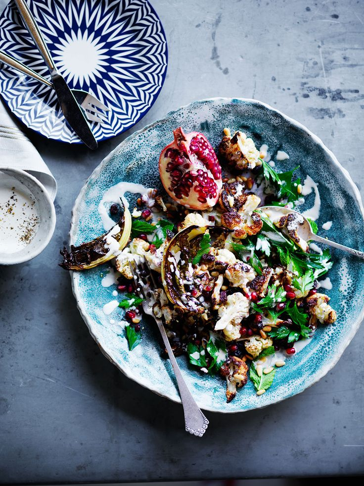 Cauliflower Pomegranate + Pine Nut Salad | SBS