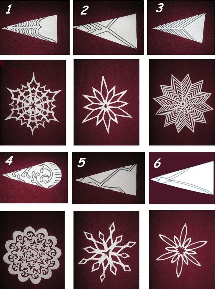 6 schönste Muster zum Ausschneiden von Weihnachtsschneeflocken – speichern und mit Freunden teilen – samira