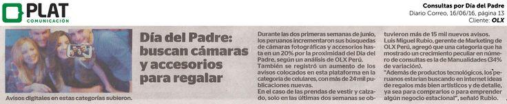 OLX: Consultas por el Día del Padre en el diario Correo de Perú (16/06/16)