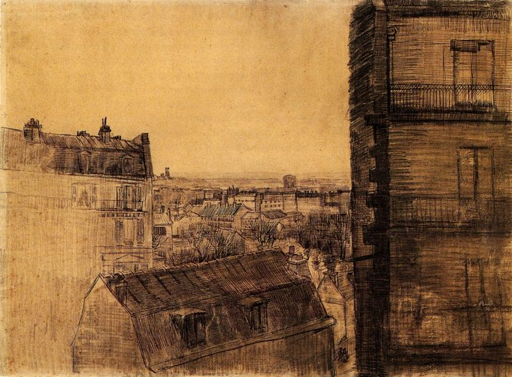 View from the Apartment in the Rue Lepic - Vincent van Gogh