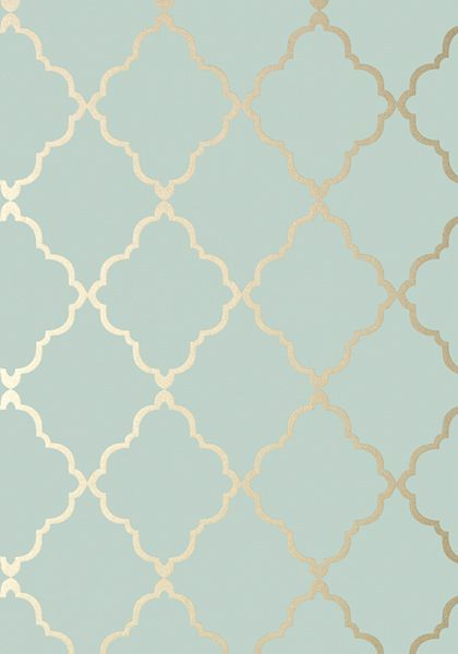 Anna French- Seraphina- Klein Trellis Aqua shop.wallpaperconnection.com
