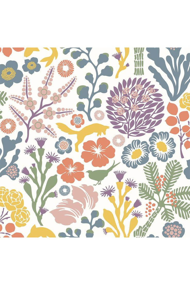 Brewster Home Fashions | Kade White Floral Meadow Ultra Removable Wallpaper | HauteLook