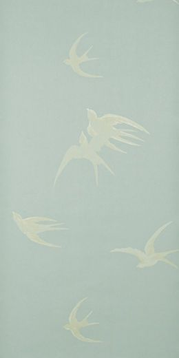 "Love this ""Swallows"" wallpaper design by Sanderson. It's a vintage design from the 1930's"