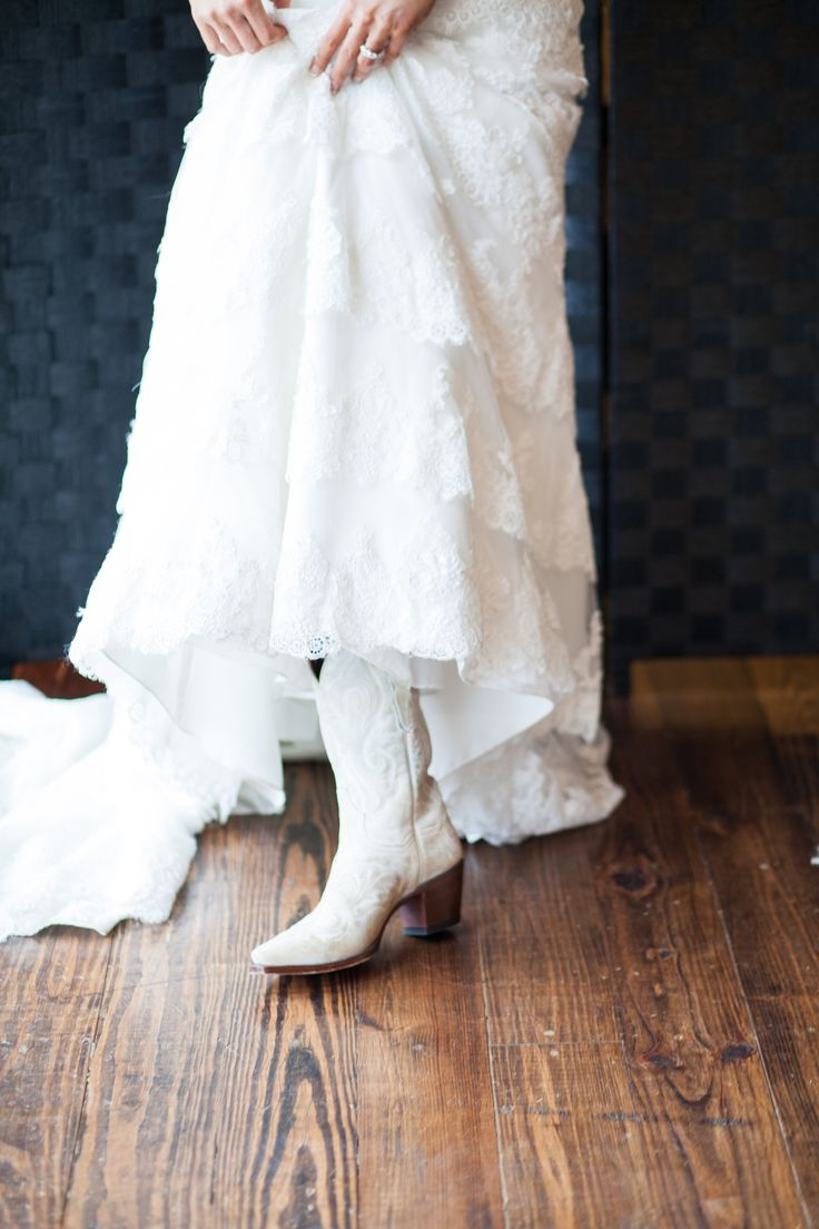 Country Western wedding boots!