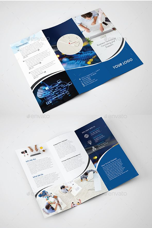 Business IT technology Brochure Design Template – Corporate Brochure Template Vector EPS, AI Illustrator. Download here: graphicriver.net/…