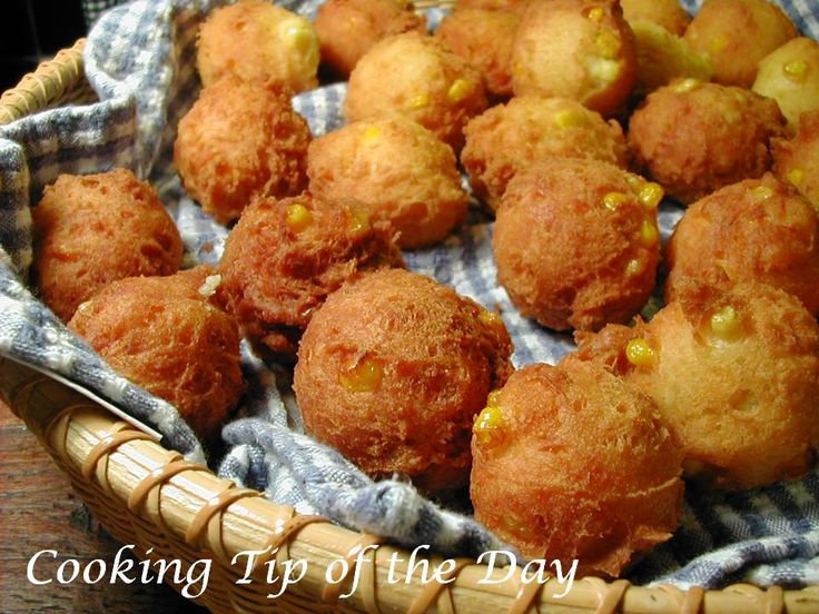 Cooking Tip of the Day: Recipe: Corn Fritters... kezt777 made these today and yummmm so delicious!