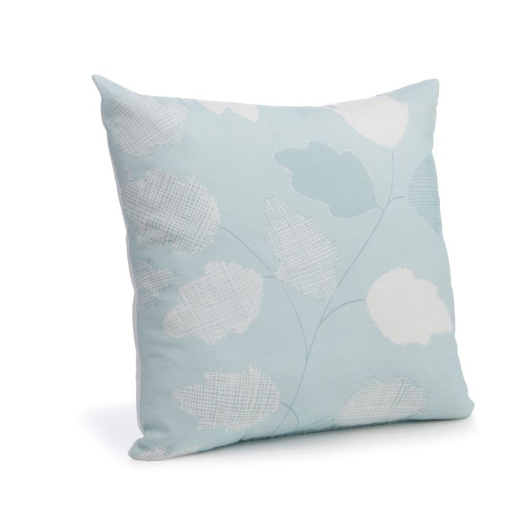 Centola Leaves Duck Egg Cushion | Departments | DIY at B&Q