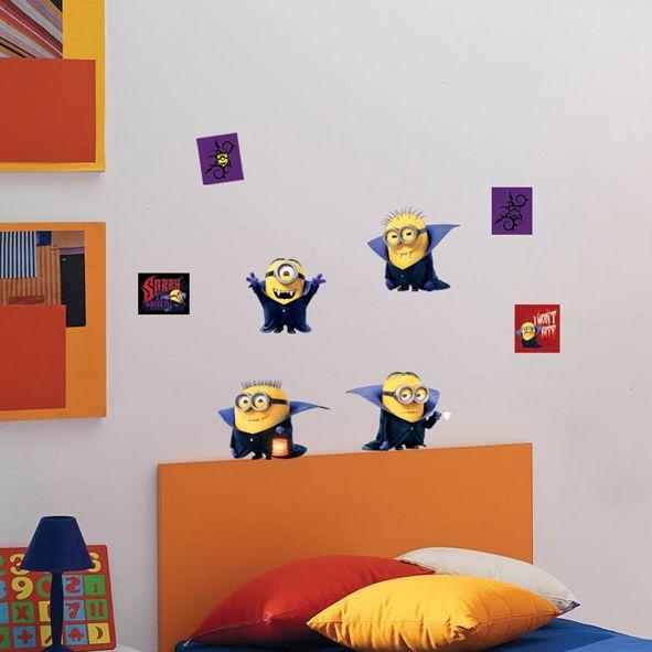 Samolepka na zeď Mimoni Drákula 100 x 80 cm. Uáááááá