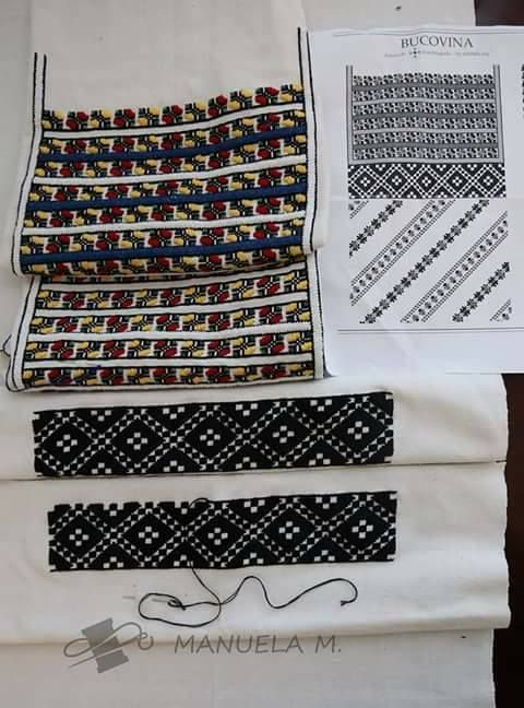 Romanian Blouse in the making. via FB - Semne cusute in actiune