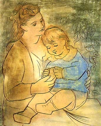 Picasso Mother and Child