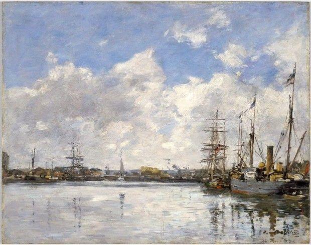 Eugène Louis Boudin, Le Havre, The Port, 1884, Brooklyn Museum